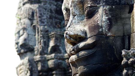 khmer: Angkor, Bayon temple Stock Photo