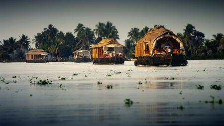 allepey: Kerala waterway Stock Photo