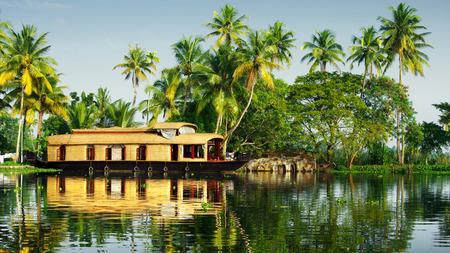 backwaters van Kerala Stockfoto