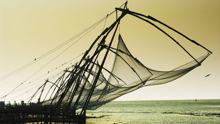 chinese nets in Kerala photo