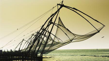 chinese nets in Kerala photo