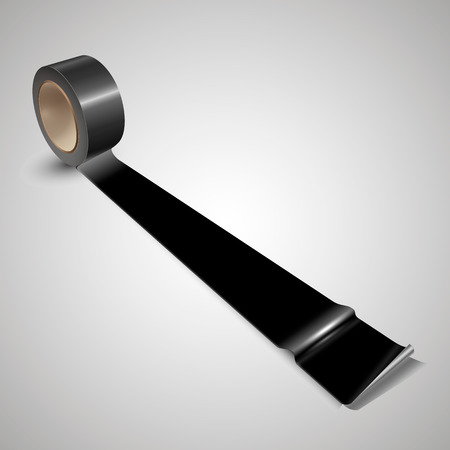 duct: Duct tape black tape, roll.