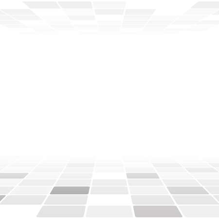 Abstract background with white and grey shapes Stock Illustratie