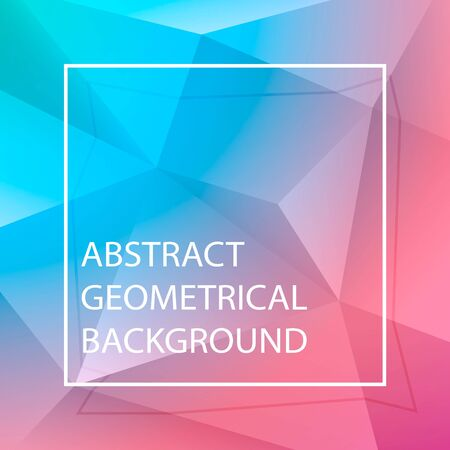 Vector abstract polygonal background. Blue, red