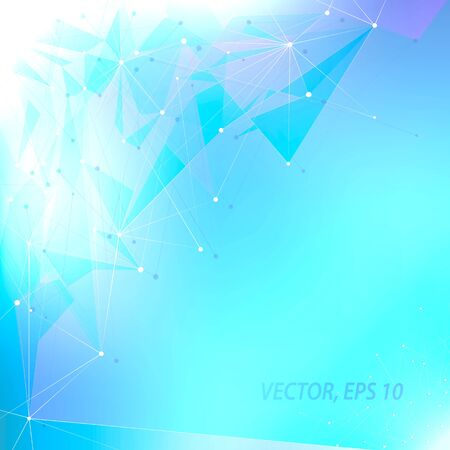 Abstract futuristic style background for business presentations. Lines and point. Blue