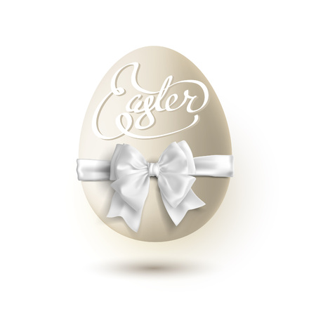 Easter egg isolated on white background clipping path included. Stock Illustratie
