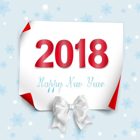 Happy new year 2018 paper text triangular scatter Design