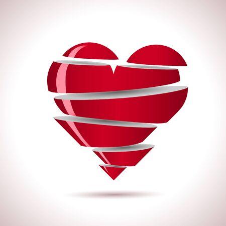 Beautiful heart shape vector object