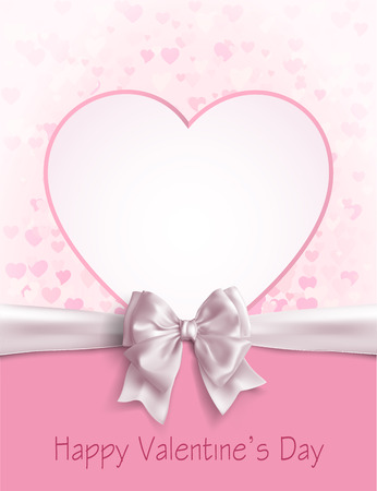 Valentines day abstract background with cut paper heart. Vector illustration