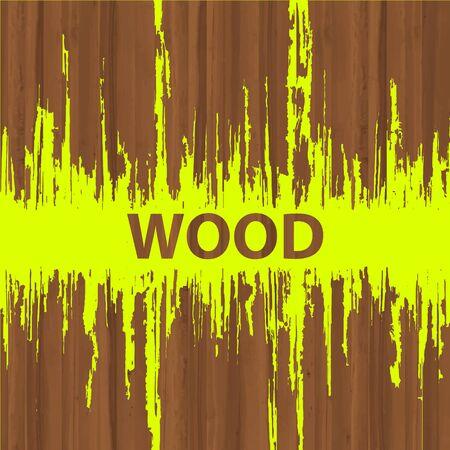 Wood logo elements for design. Vector illustration