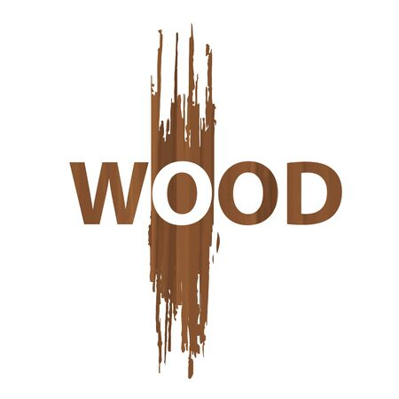 Wood logo elements for design on white background. Vector illustration.