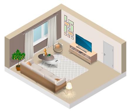 Interior of a living room illustration