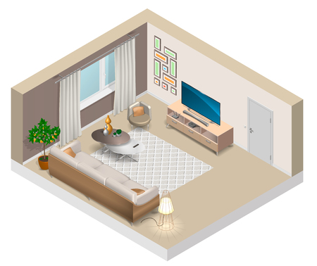 Interior of a living room illustration