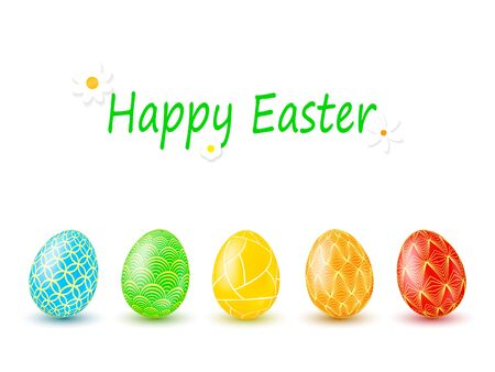 Color Easter eggs for Your design. Vector