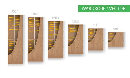 Wardrobe and walk in closet Furniture Illustration