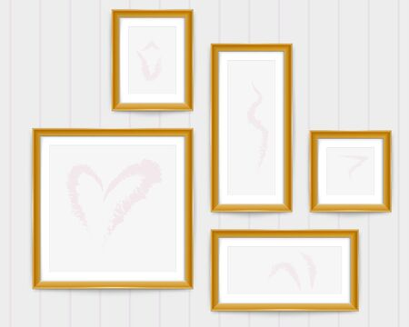 Decorative frame.A frame that gave a change in size to the same design.Good frame for A4 size paper.Certificate frame.
