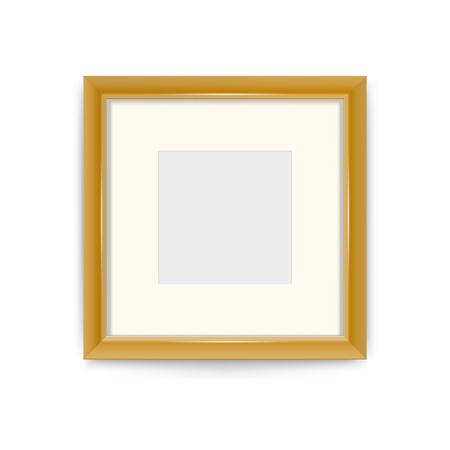 Gold photo frame, easily change the size of the frame. It's easy to change the color of the frame vector design ornaments.