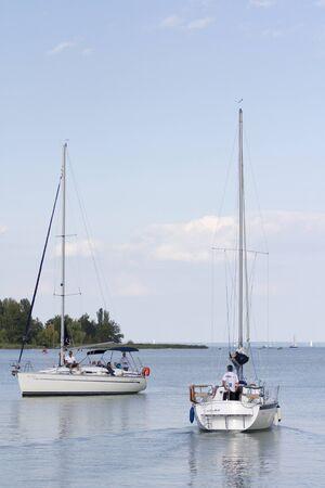 balaton: Sailboats in the Lake Balaton