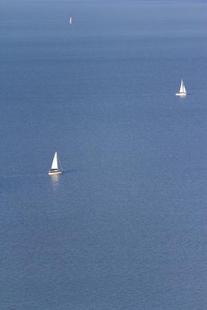 balaton: Lake Balaton with Sailboats