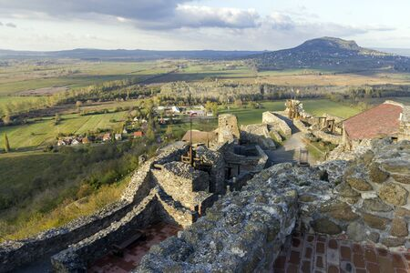 Fortress of Szigliget at the Lake Balaton in Hungary.