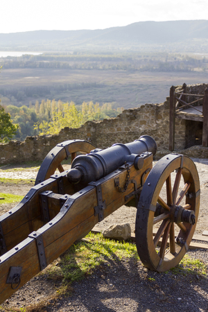 Cannon in the fortress of Szigliget, Hungary. Reklamní fotografie