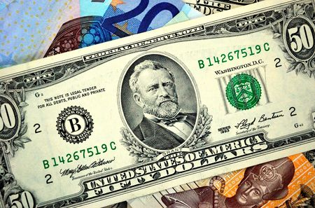 50 american dollars between another banlnotes Stock Photo - 5747233
