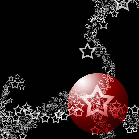 Abstract Elegant Lacy Starry Ornament Theme over black background photo