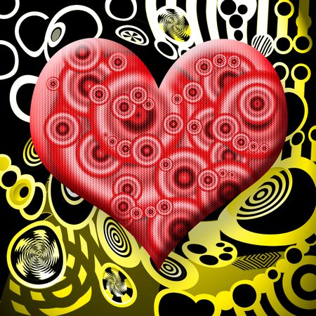 Radioactive Heart over Abstract Industrial Background Stock Photo - 6367683