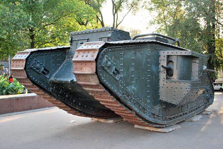 war tank: Primer tanque brit�nico de la �poca de la primera Guerra Mundial, �ltimo vivo