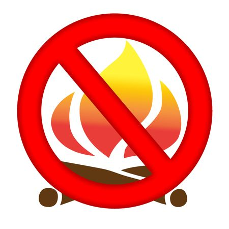 Fire prevention sign isolated over white background photo