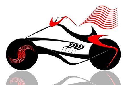 Bicicleta de deportes de velocidad con bandera de ilustración abstracta sobre fondo blanco Foto de archivo - 7109053