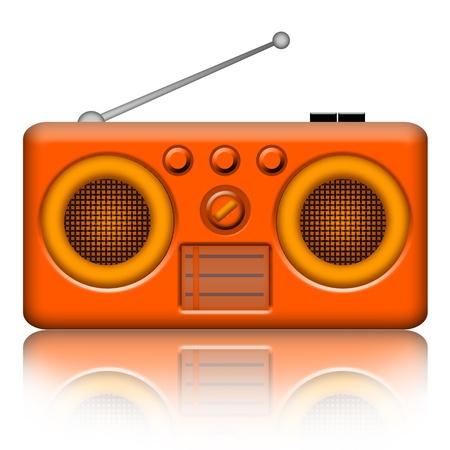 Radio receiver isolated over white background Stock Photo - 8733146