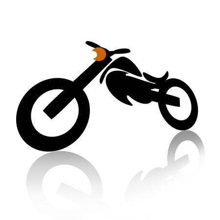fueled: Motorcycle illustration isolated over white background Stock Photo