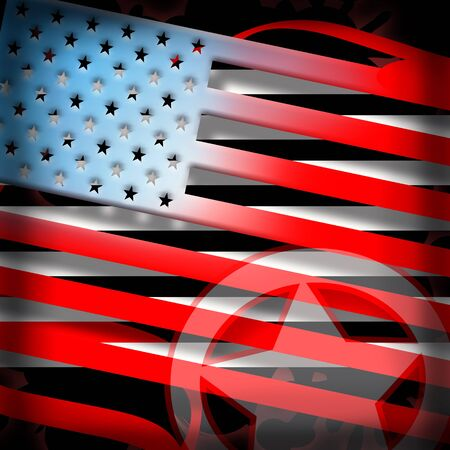 American flag styled background photo