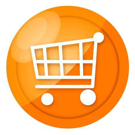 ajouter: Signe brillant à shopping cart golden isolé sur fond blanc Banque d'images