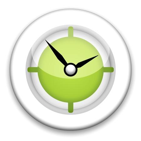 chronologie: Illustration de horloge du mur sur fond blanc
