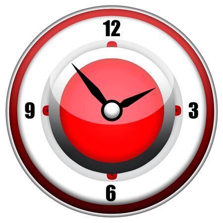 chronologie: Illustration de design �l�gant �l�gamment horloge isol�e sur fond blanc
