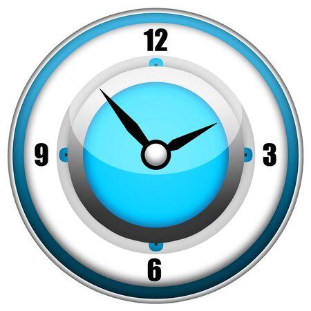 chronologie: Horloge �l�gant �l�gant isol� sur fond blanc Banque d'images