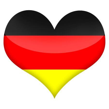 Heart styled flag of Germany illustration isolated over white background illustration