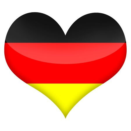 reformation: Heart styled flag of Germany illustration isolated over white background