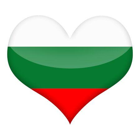 Bulgarian flag styled heart isolated over white background photo