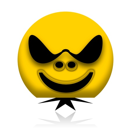 Bad guy character in sunglasses with big head and small body Stock Photo - 9969626