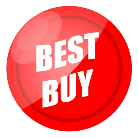 Best buy red sticker isolated over white background photo