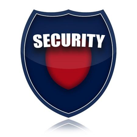 guardaespaldas: Ilustraci�n de escudo de seguridad aislada sobre fondo blanco