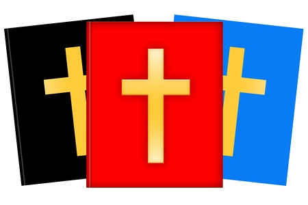 missionary: Christian books illustration isolated over white background