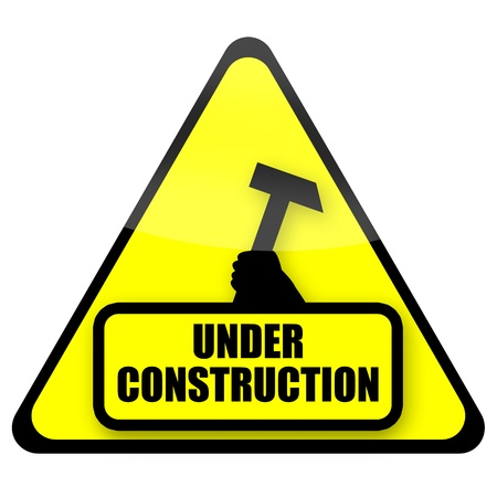 Under construction sign Stock Photo - 10685392
