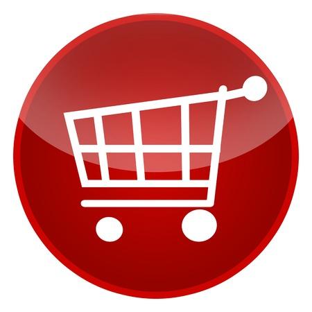 Shopping cart isolated over white background