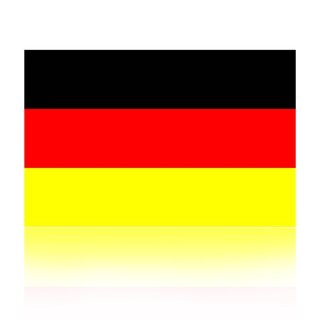 european countries:  Flag of Germany illustration isolated over white background