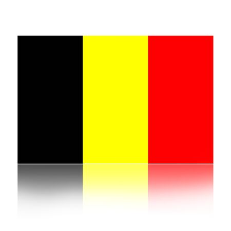 national holiday: Flag of Belgium illustration isolated over white background Stock Photo