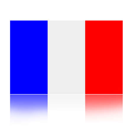 flag french icon: Flag of France illustration isolated over white background Stock Photo
